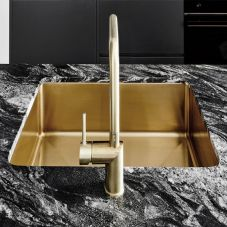 Gold brass kitchen sink