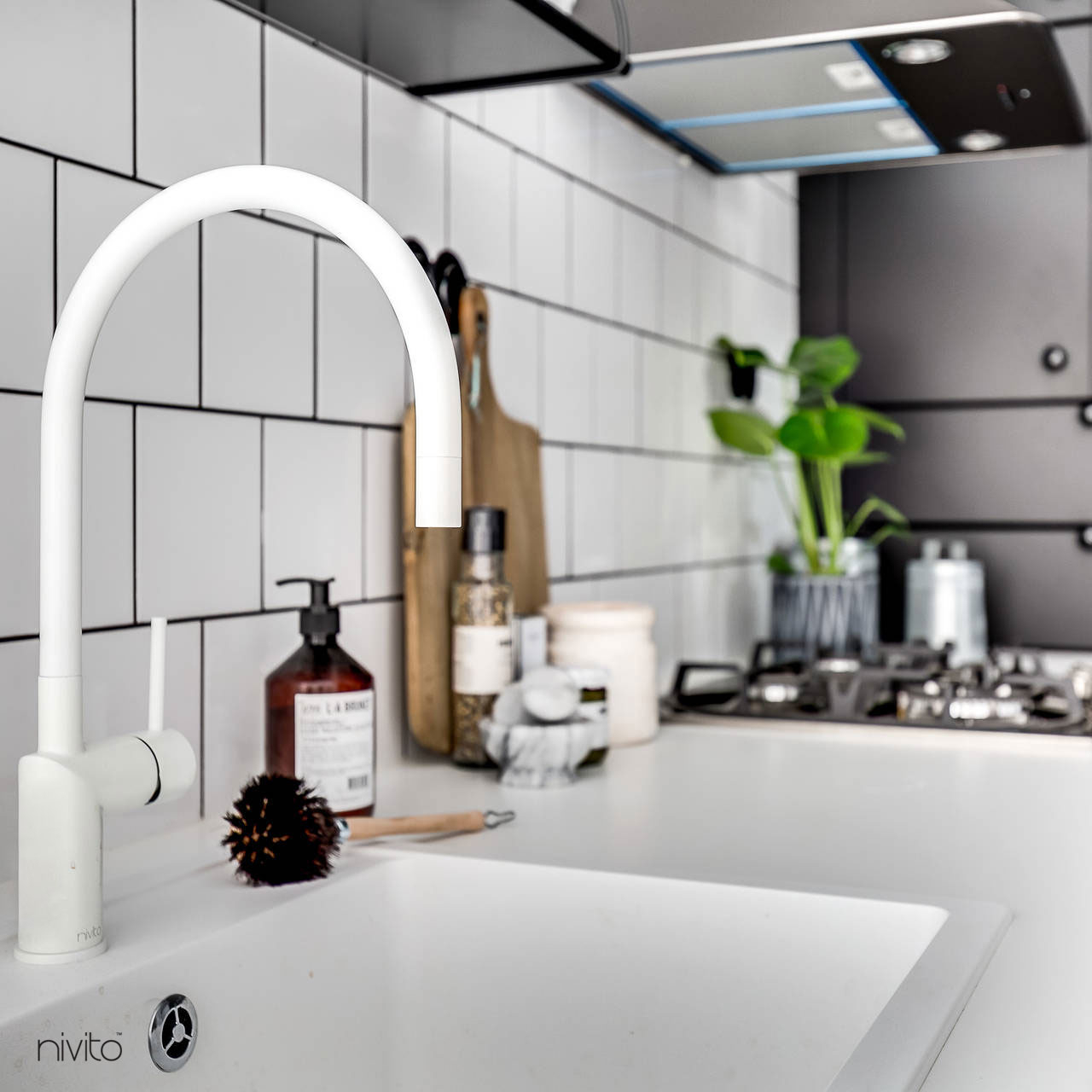 White faucet