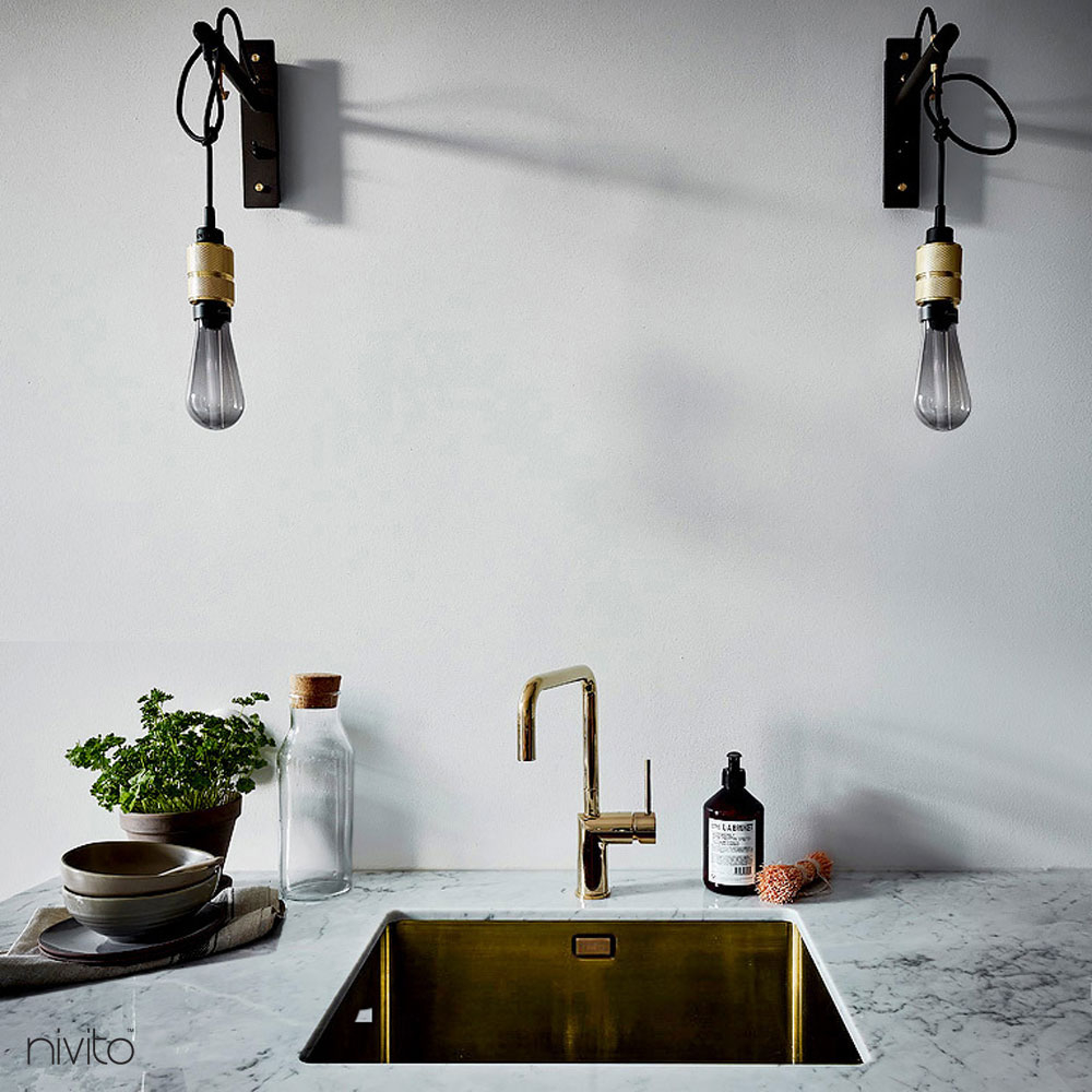 Gold brass water tap