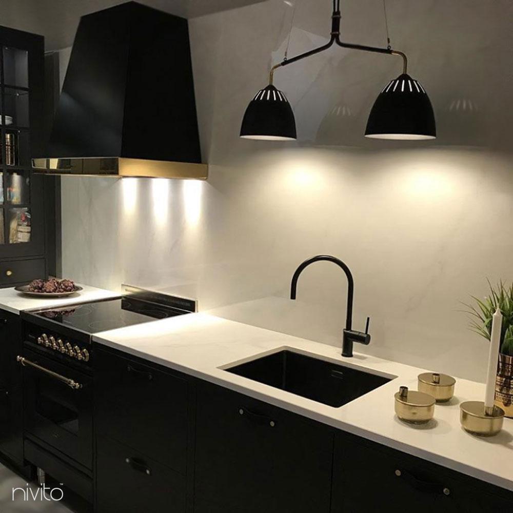 Black kitchen tap