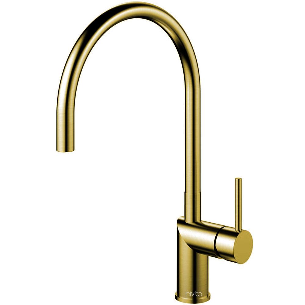 Brass/Gold Kitchen Tap - Nivito RH-140