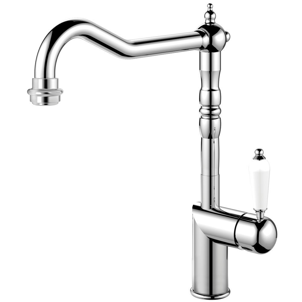 Kitchen Faucet - Nivito CL-110 White Porcelain Handle Color