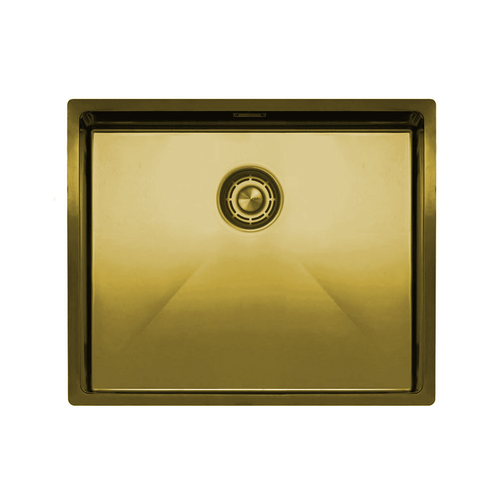 Brass/Gold Kitchen Sink - Nivito CU-500-BB