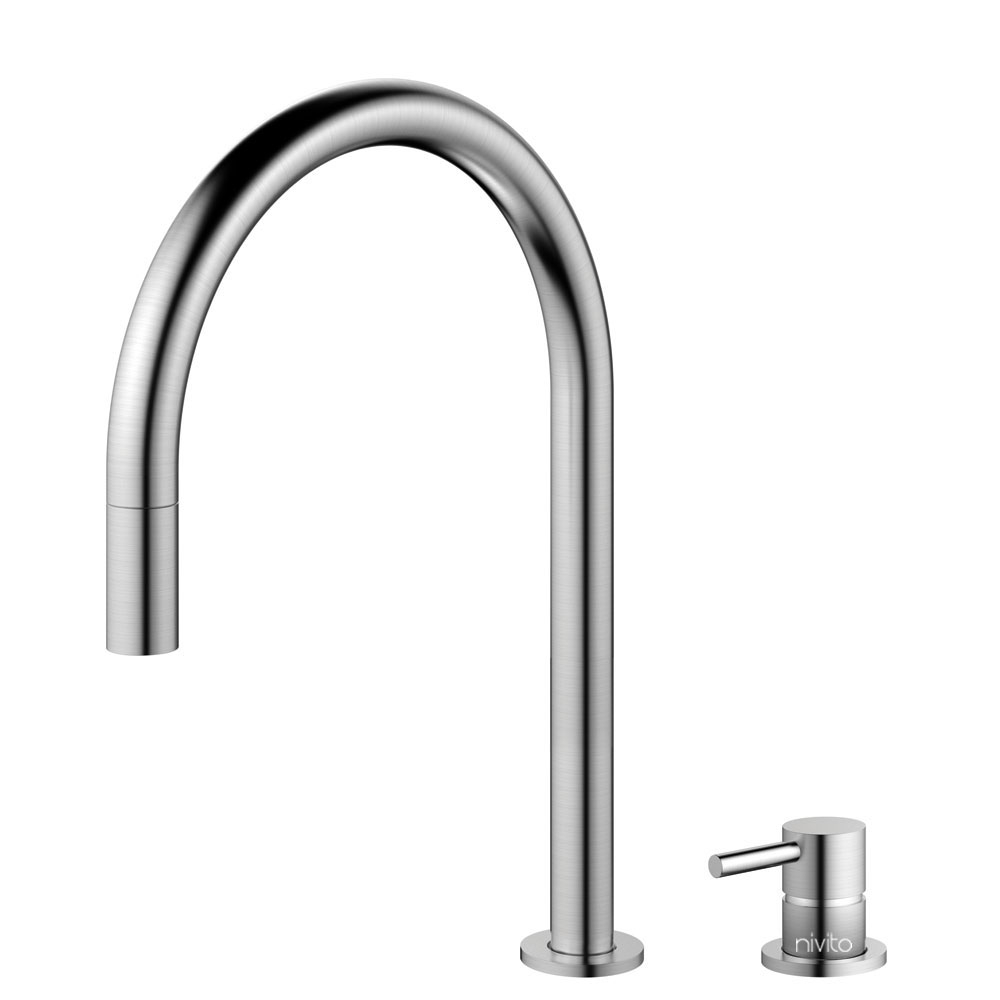 Stainless Steel Kitchen Faucet - Nivito RH-100-VI Series