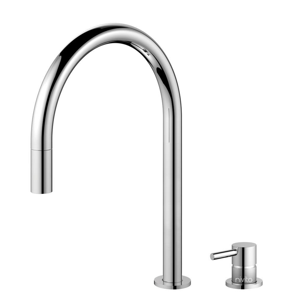 Kitchen Faucet Pullout hose / Seperated Body/Pipe - Nivito RH-110-VI
