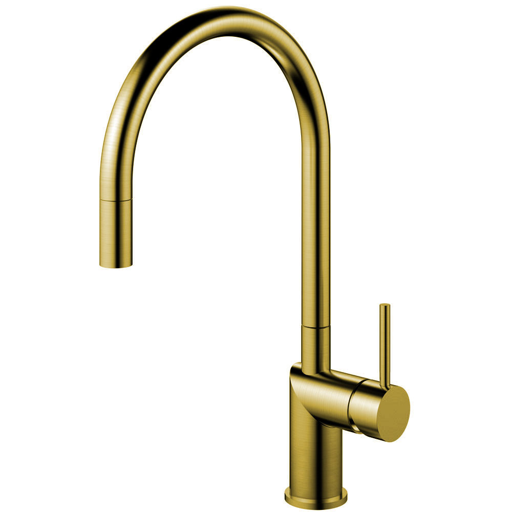 Brass/Gold Kitchen Faucet Pullout hose - Nivito RH-140-EX