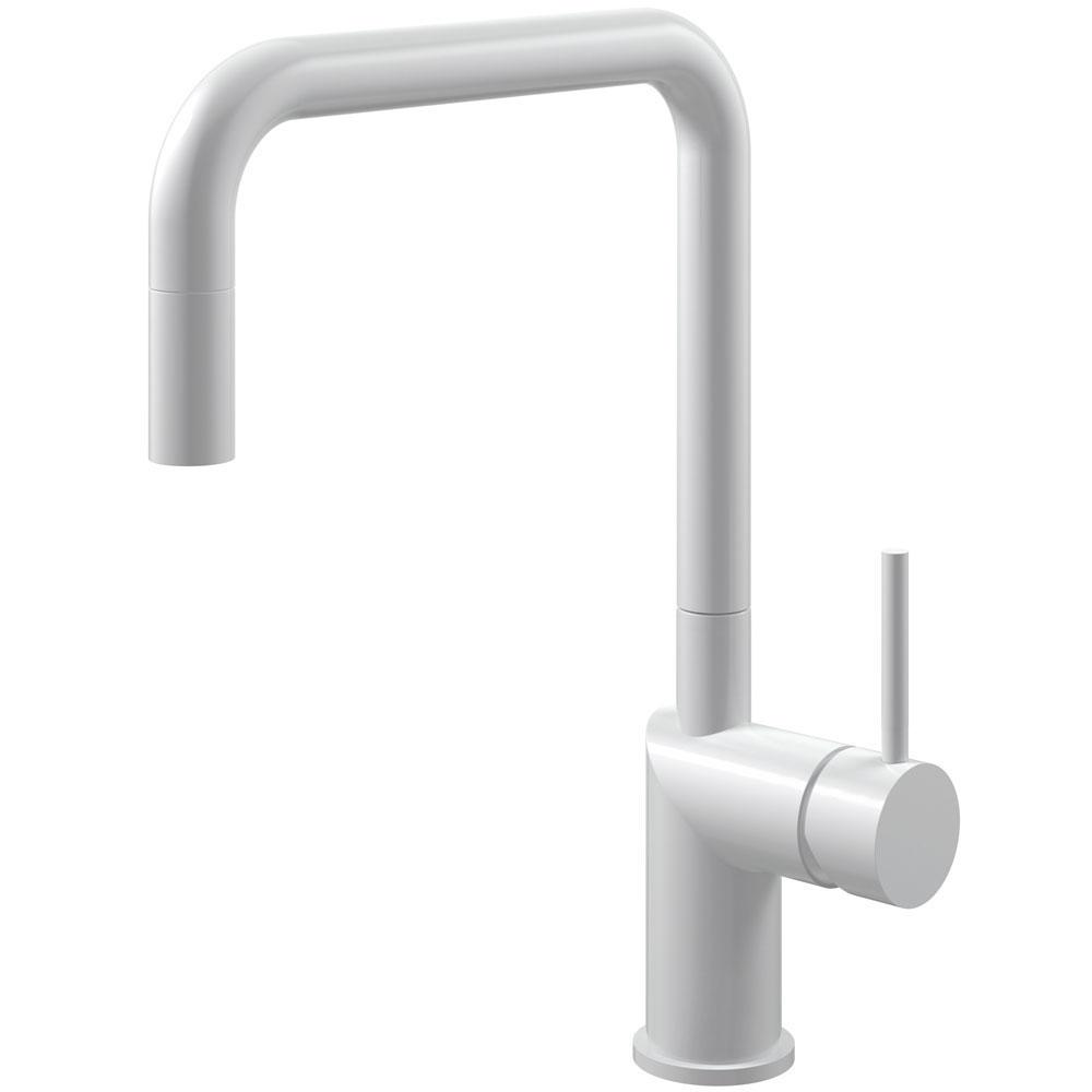 White Kitchen Faucet Pullout hose - Nivito RH-330-EX