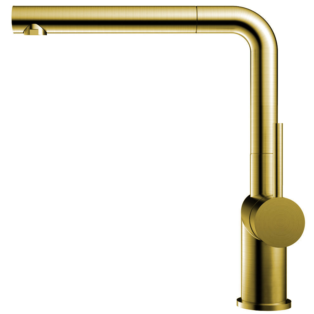 Brass/Gold Kitchen Faucet Pullout hose - Nivito RH-640-EX