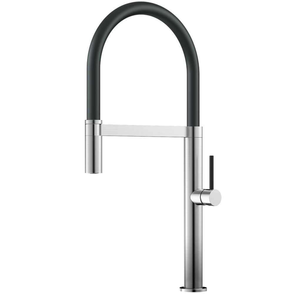 Stainless Steel Kitchen Faucet Pullout hose / Brushed/Black - Nivito SH-200