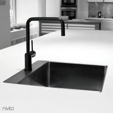 Black faucet