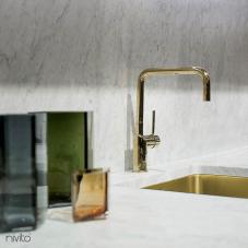 Gold brass faucet