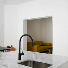 Black mixer tap