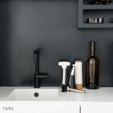 Black kitchen tap