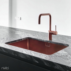 Copper Kitchen Faucet - Nivito 1-RH-350