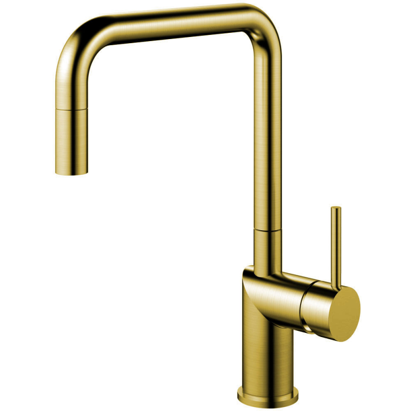 Brass/Gold Kitchen Faucet Pullout hose - Nivito RH-340-EX