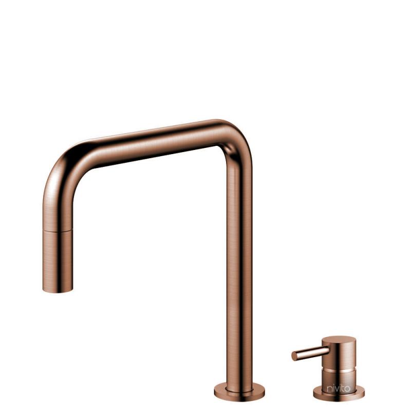 Copper Kitchen Faucet Pullout hose / Seperated Body/Pipe - Nivito RH-350-VI