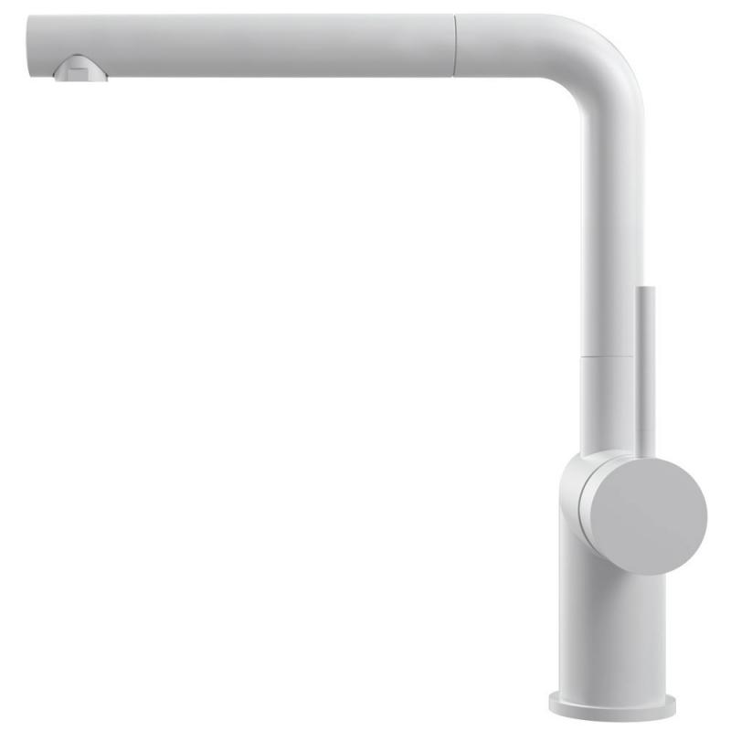 White Kitchen Faucet Pullout hose - Nivito RH-630-EX