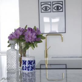 Gold brass mixer tap