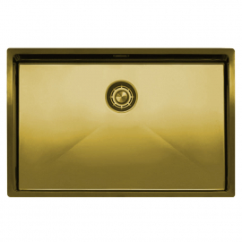 Brass/gold Kitchen Sink - Nivito CU-700-BB