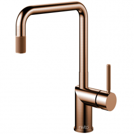 Copper Kitchen Faucet Pullout hose - Nivito RH-350-EX-IN